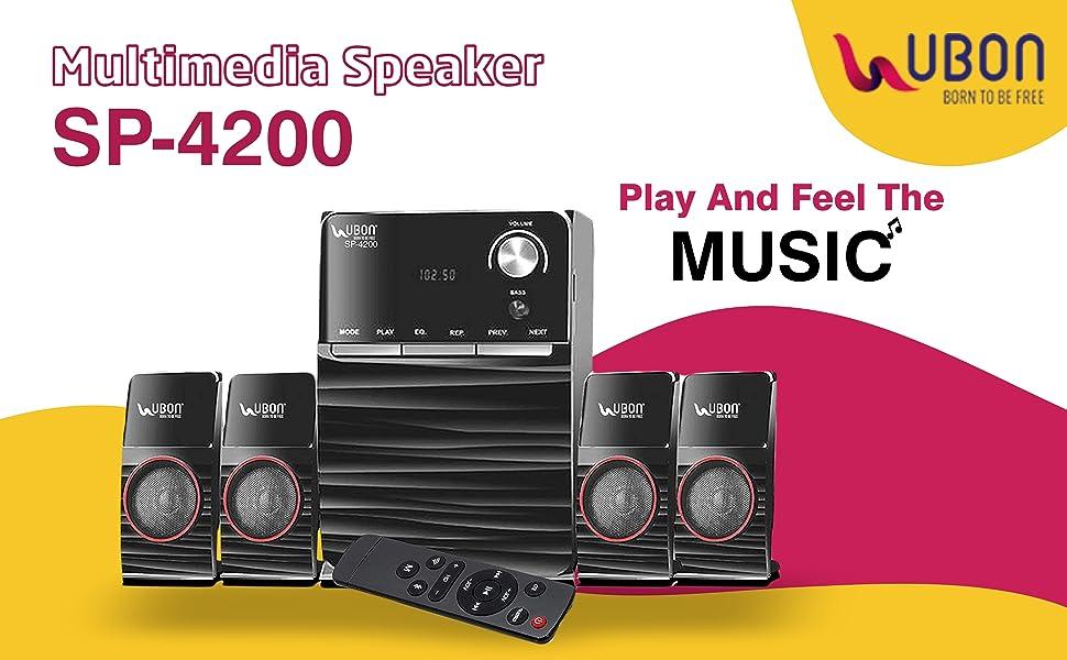 B08W46PTFQ-Home Theatre SP-4200 Big Daddy Bass with Disco Lights 40 Watt Multimedia Speaker SPN-FOR1