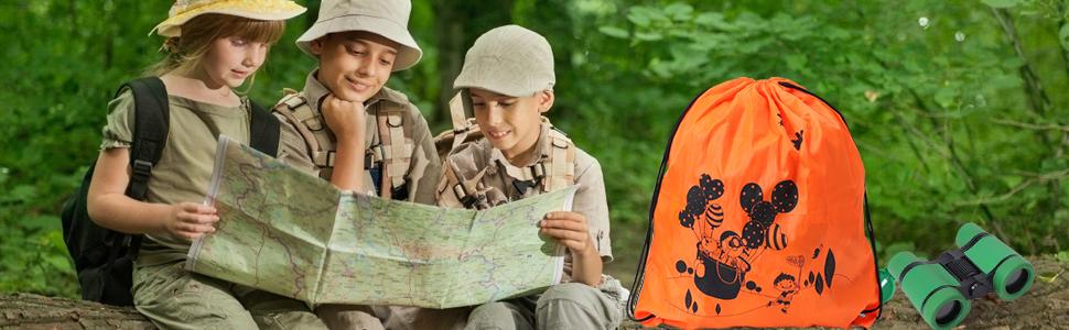 Lehoo Castle Kit de Explorador para Niños, Set de Juguetes al Aire Libre 26 Piezas, Kit Aventura con Binoculares Lupa para Acampada y Senderismo: Amazon.es: Deportes y aire libre