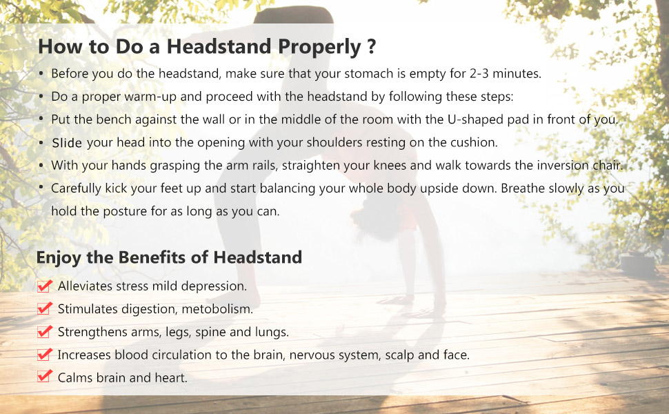 how to do a headstand properly