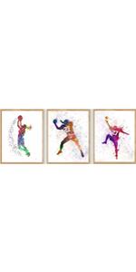 "Basketball Art, Boy Basketball Poster, Set of 3 (8""X10"" No Frame…"