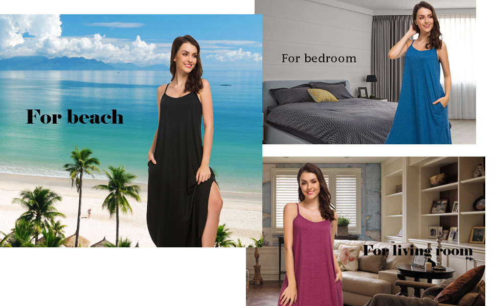 cotton v neck night gowns