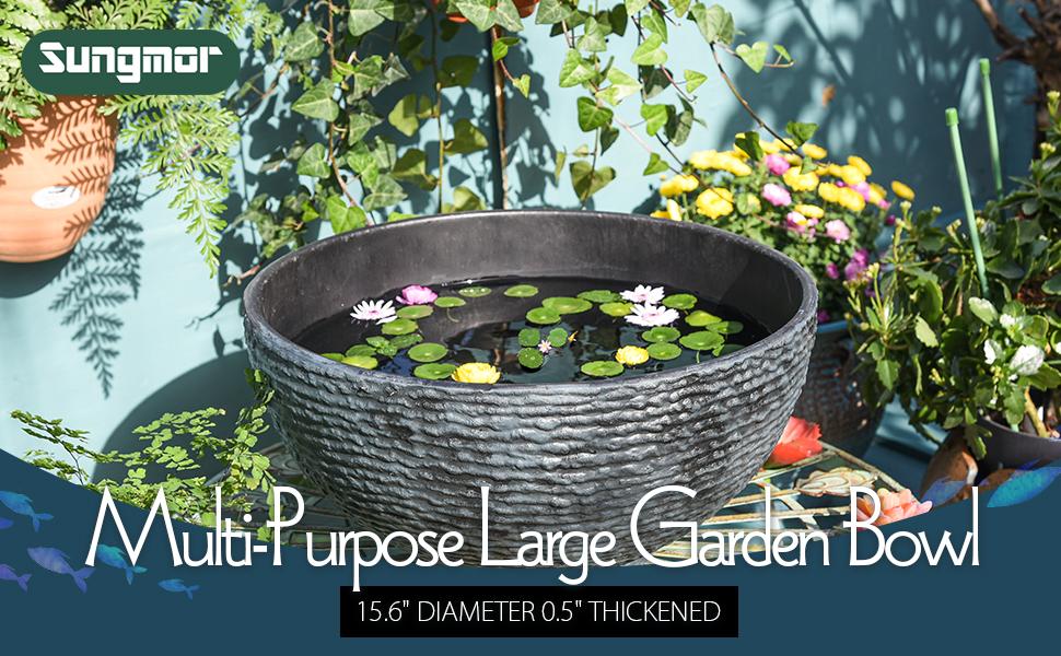 multi-purpose large garden bowl