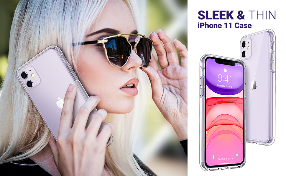 iphone 11 cases clear ultra thin lightweight bumper cover for women girls men boys