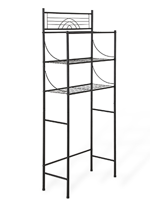 Over the Toilet Storage ,3-Tier Stainless steel Bathroom Shelf Organizer Easy to assemble