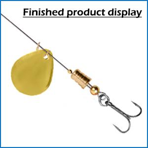 Fishing Lures Making Kit DIY Fishing Spoon Rig Treble Hook Fishing Spinner