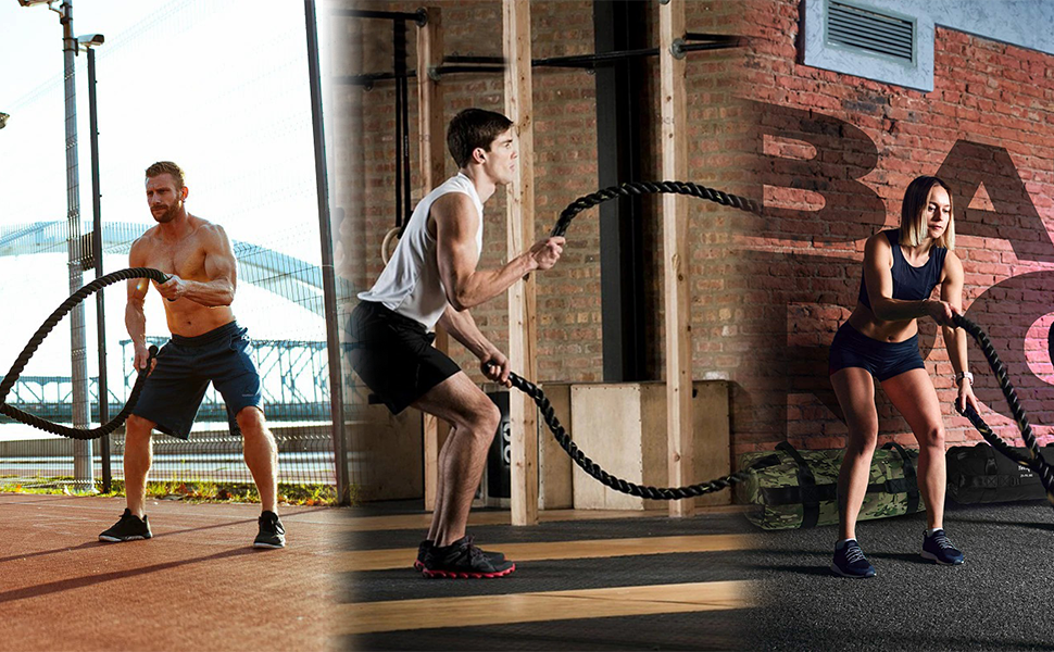 battle ropes with anchor kit