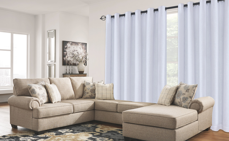 100% Blackout Window Curtain Panels Heat and Full Light Blocking Drapes