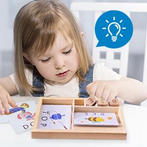 Teenager Holz Bildung passende intelligente interaktive ABCs Klassenzimmer Kleinbuchstaben Phonik Teaser Reisen