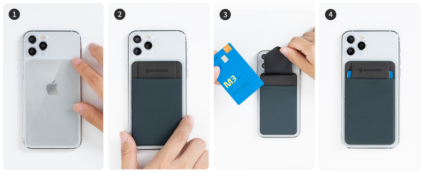 cell phone card holder for back of phone wallet stick on adhesive phone wallet for iphone