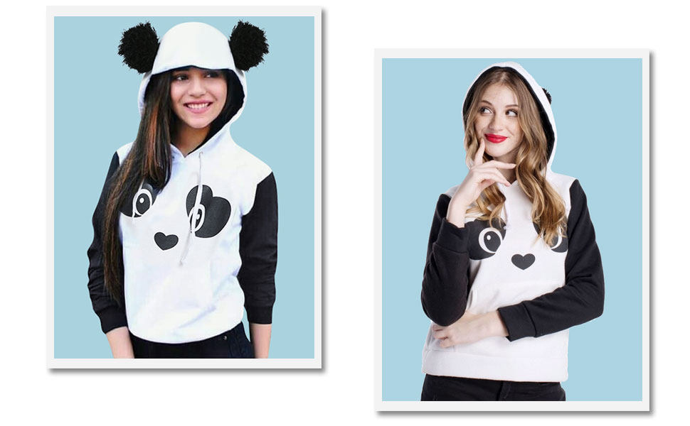 Adorable Panda with Ears Pullover