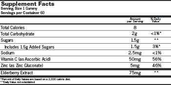 Elderberry Gummies, Elderberry Syrup, Vitamin C, Zinc, Antioxidant, Immune Support, Cold Relief