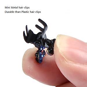 mini metal hair clips