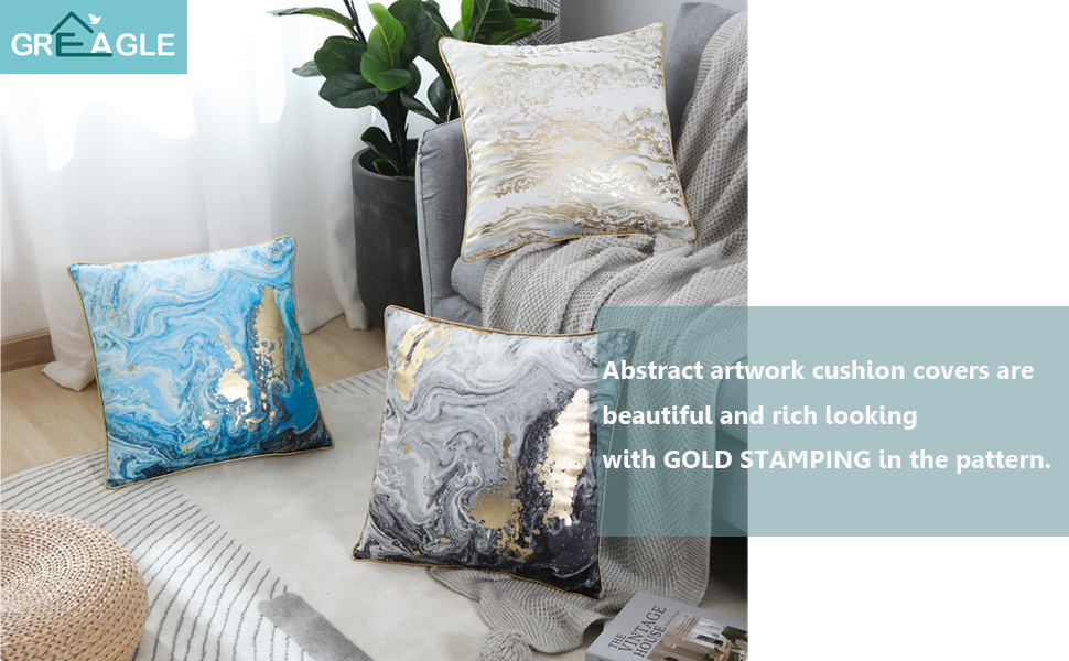 decorative soft quilted throw pillow covers
