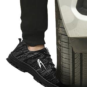 Zapatos de Seguridad Hombre con Punta de Acero, Cómodas Ultraligero & Transpirables