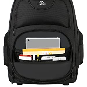 Large school backpack with rolls for collect student