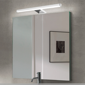 Lámpara de Espejo Baño LED 5W 30cm 400LM Azhien,Blanco Neutro 4000K LED Armario Lámpara Luz de Pared IP44 230V Aplique de Baño Espejo Acero Inoxidable 300x14x14mm: Amazon.es: Iluminación