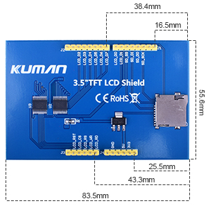 3.5 inch screen for arduino
