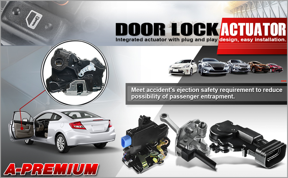 A-Premium Door Lock Actuator Motor for Nissan Altima 2013-2018 Rear Right Passenger Side