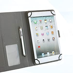 Emartbuy Universal 9.7 Inch 10.8 Inch Cactus Multi Angle Folio Wallet Case Cover With Card Slots and Stylus Pen Suitable for Selected Devices Listed Below