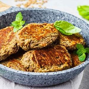 CALYFORM Hamburguesa Proteica para dieta saciante | Pack de sobres proteína en polvo para preparar hamburguesas de pollo | Preparados Proteína de ...