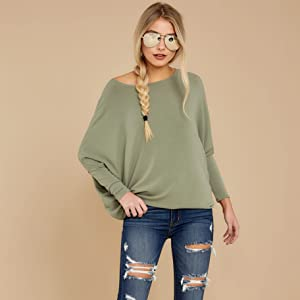 Cozy Batwing Sleeve Oversized Pullover