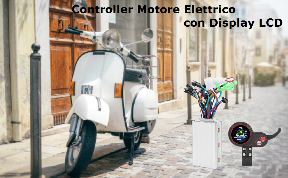 Controller Motore Elettrico con Display LCD