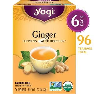 yogi ginger tea supports healthy digestion