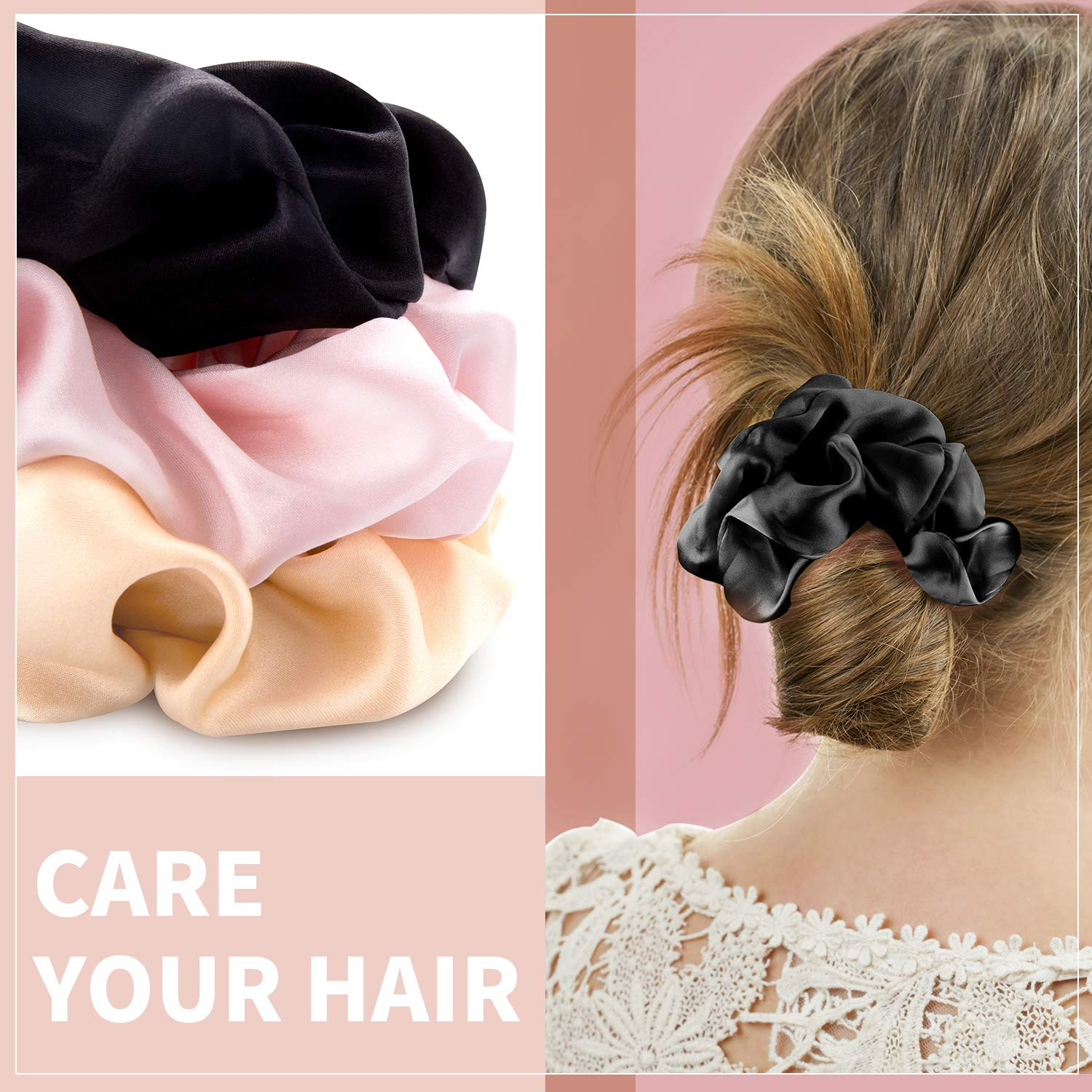 Multicolor Bands for Hair