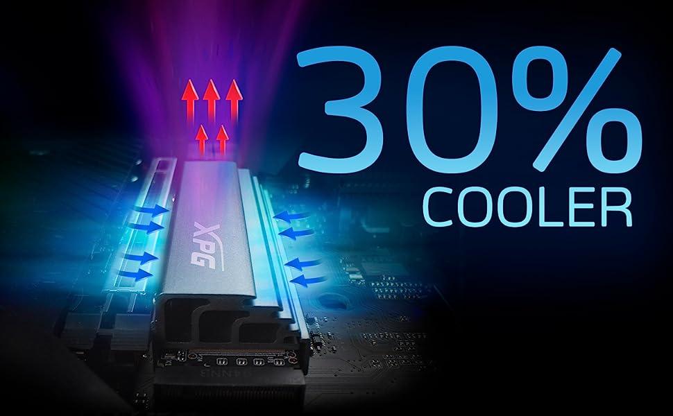 XPG GAMMIX S70 PCIE 4.0 SSD HEATSING