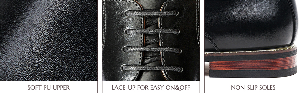 cushioned footbed for comfort, and non-skid outsole