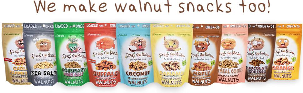 walnut snacks almond peanut cashew the nutty gourmet crazy go nuts flavored keto healthy snack vegan