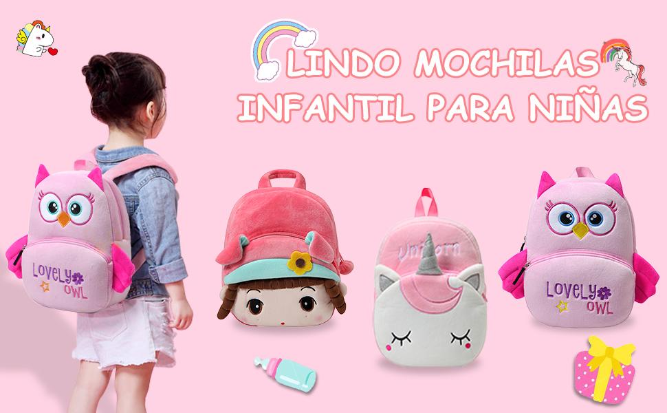 LINDA MOCHILA INFANTIL PARA NIÑA