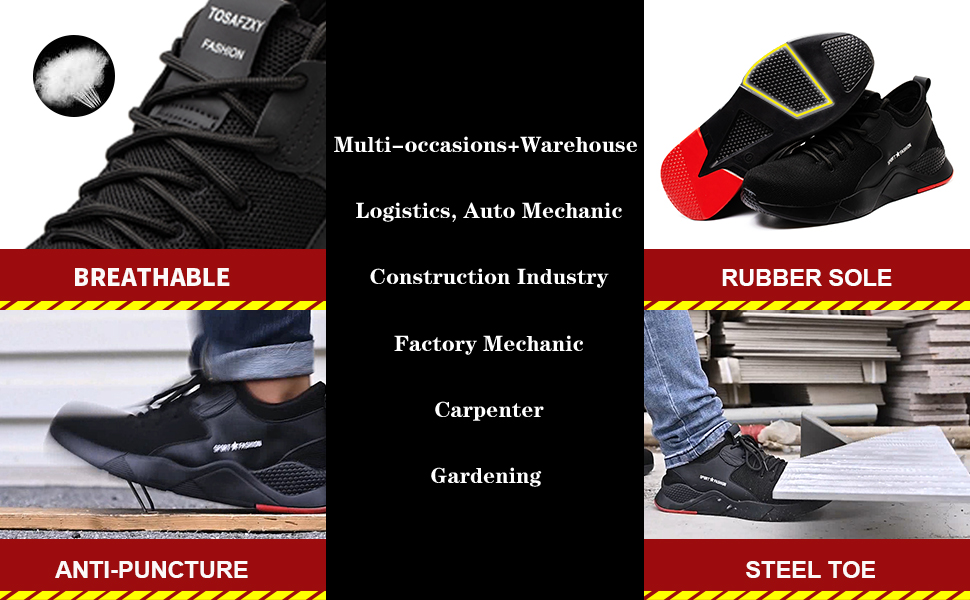 Multi-functional lightweight safety shoes