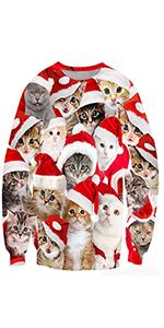 Cat xmas jumpers