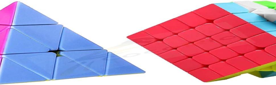 owest i stickerless jiehui moyu magnetic negi qiyi shengshou rubik 2x2,pyramid 4x4x4 150rs sticker