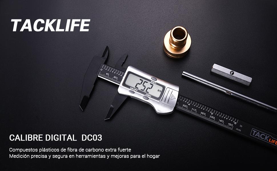 Calibre Digital, TACKLIFE Calibre de Medición Electrónico, LCD ...