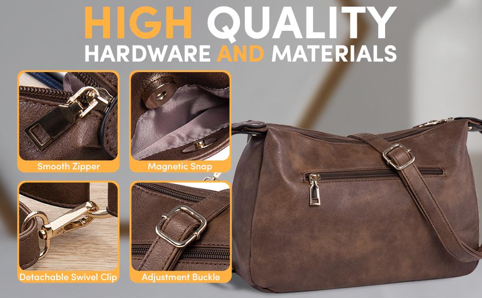 leather hobo hand bag purse