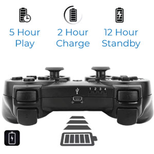 PS3 Controller built-in rechargeable battery