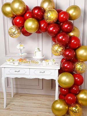 50pcs Or Ballon Baudruche Rouge Bordeaux Ruby Ballon Confettis Or Ballon Metallique pour Deco Fete Noel PartyWoo Bordeaux Ruby Dor/é Ballon Decoration Mariage Rouge et Or Deco Anniversaire Bordeaux
