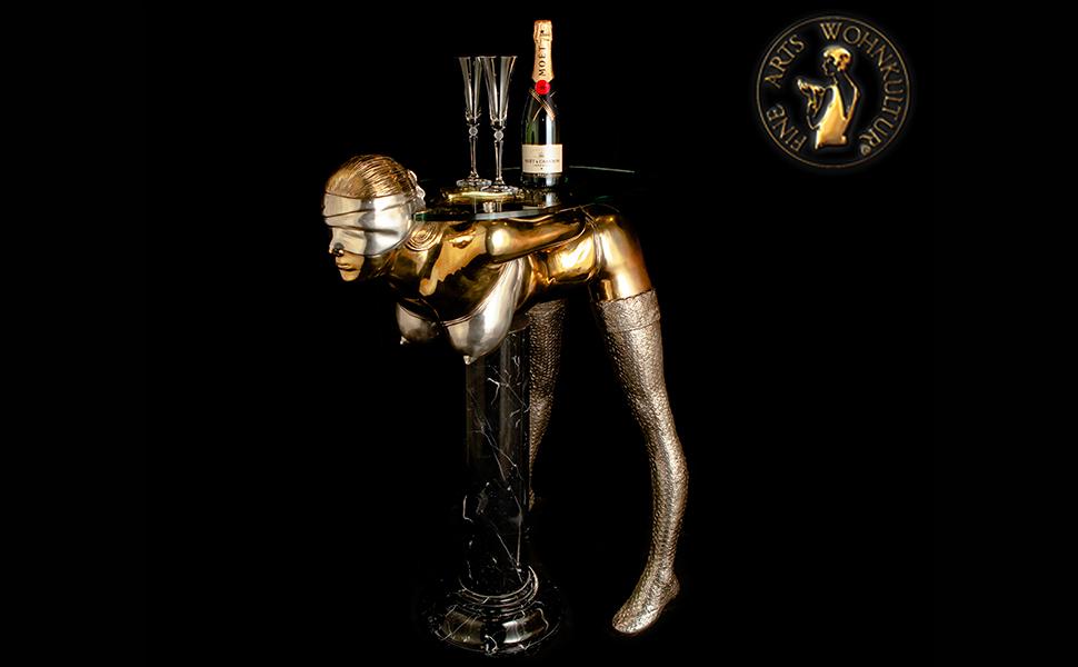 FINE ARTS WOHNKULTUR, Skulptur, Bronze, Erotik, Konsol Tisch