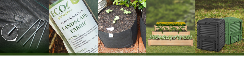 landscape fabric, weed barrier, ecogardener landscape fabric, landscape fabric gardening