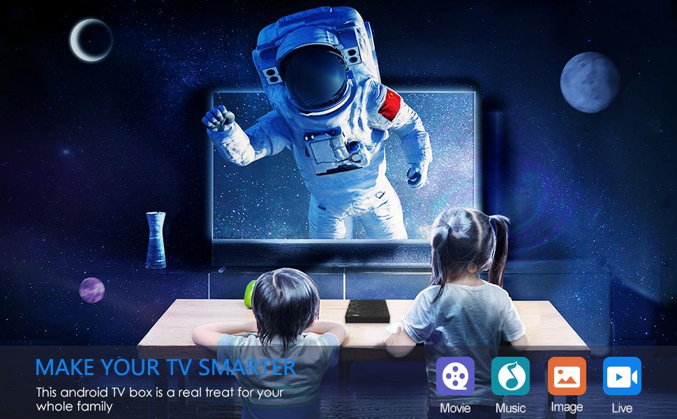 Android 9.0 TV Box 4GB RAM 32GB ROM Smart TV Box