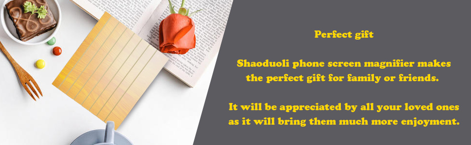 Shaoduoli phone screen magnifier makes the perfect gift for family or friends.