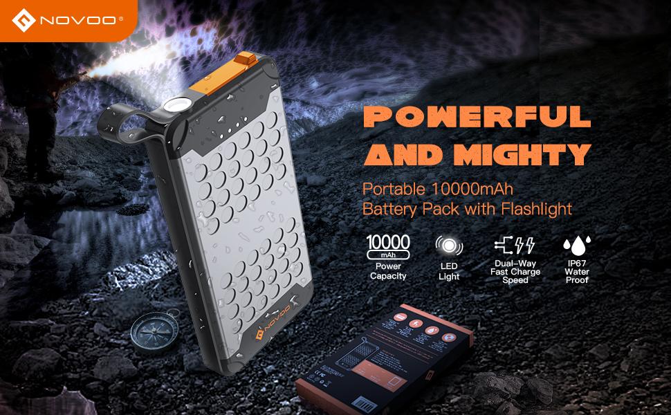 power bank 1000aMh with flashlight