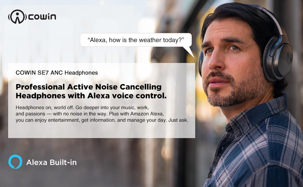 COWIN SE7 ANC Headphones with Alexa Voice Control