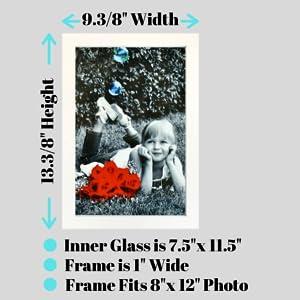 Tasse Verre 8x12 picture frame for poster wood glass tasse verre wall