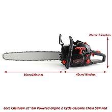 gas chainsaw 22 inch