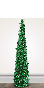 5ft Collapsible Pop Up Christmas Tree Green