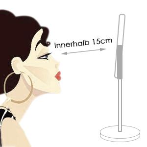 Auxmir Kosmetikspiegel mit 10x Vergrößerung, Schminkspiegel mit Standfuß