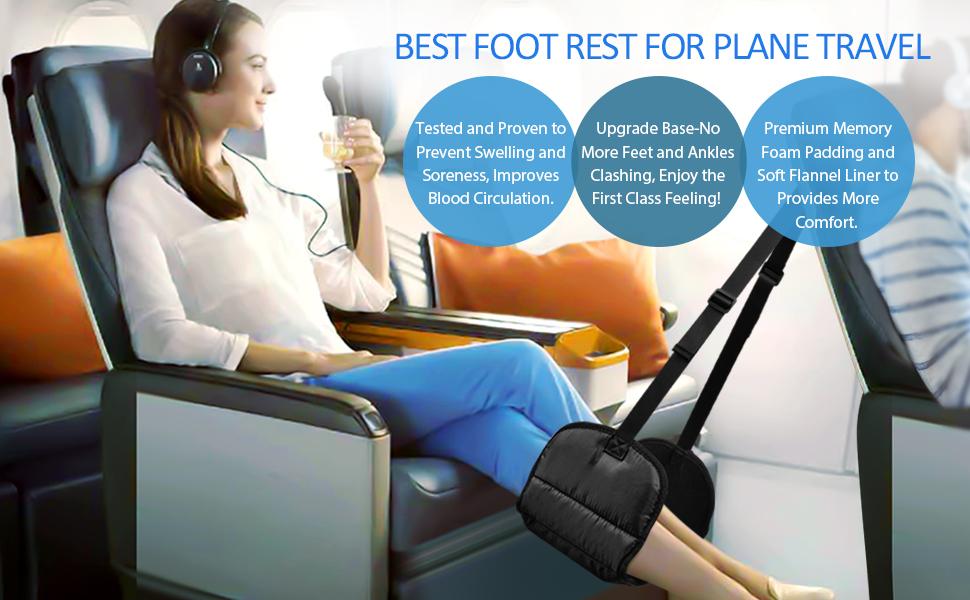 airplane foot hammock